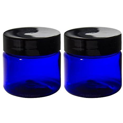 Amazon.com: Azul Cobalto 1 oz Pet (sin BPA) de plástico Jar ...