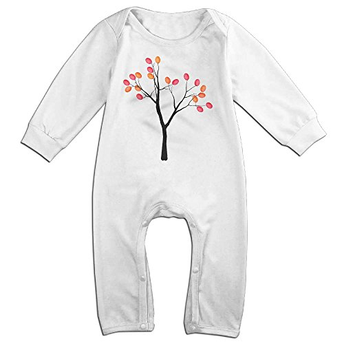 Fingerprint Tree Baby Romper Jumpsuit Romper Clothing White 6 M