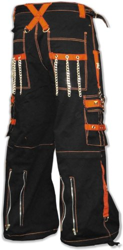 "Tripp NYC ""Kryptonic"" Bondage Pants (Black / Orange) #69 70 71 72"