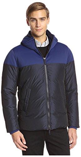 Armani Collezioni Men's Colorblock Hooded Jacket, Navy 56 EU