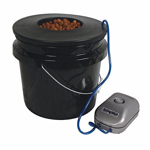 (HTGSupply 3.5-Gallon Bubble Boy Single Shot Deep Water Culture (DWC) Hydroponic Bucket System)