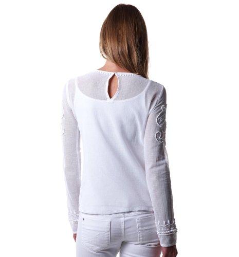 Promod Top brodé perlé Blanc 40  Amazon.fr  Vêtements et accessoires f22cd5452d5b