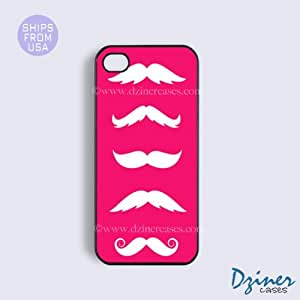 iPhone 4 4s Tough Case - Pink Mustaches iPhone Cover