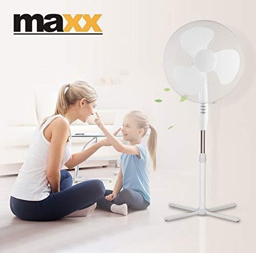 45 Watt 3 vitesses Maxx Ventilateur oscillant sur pied