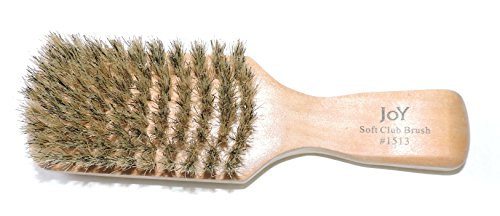 Price comparison product image Joy 100% All Natural Wood Soft Club Brush Boar Bristles Unisex Professional Hairbrush for All Types of Hair