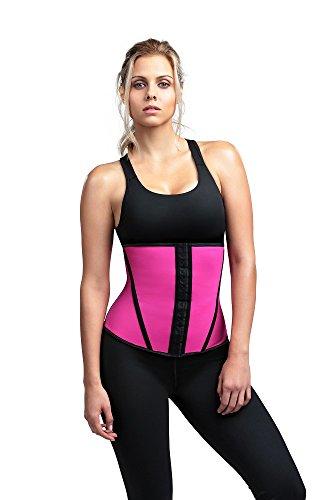 (Divafit Women's Waist Trainer, Pink, Large)