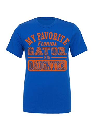 (DisGear My Favorite Princesses are My Daughters T-Shirt Long Sleeve Tanks Hoodies Long Sleeve Raglan Sweatshirt (Large, My Favorite Florida Gator Daughter - Royal Blue))