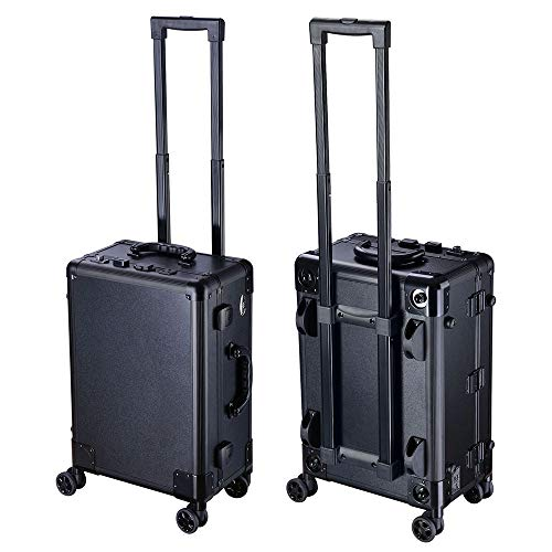 AW Rolling Makeup Case 12x8x20'' with LED Light Mirror Adjustable Legs Lockable Train Table Studio Artist Cosmetic by AW (Image #7)