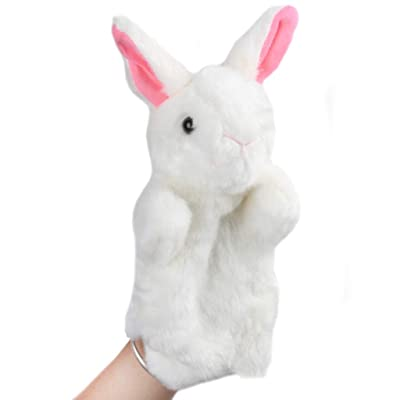Feamos Plush Animal Hand Puppet Toy Role Play Cosplay Lion Rabbit Squirrel Trick Toys for Kids Adult (A): Toys & Games