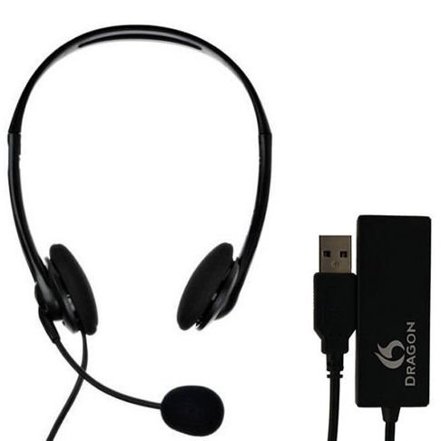Nuance Dragon Analog Headset and USB Adapter Combo HS-GEN-C-USB by NUANCE DRAGON