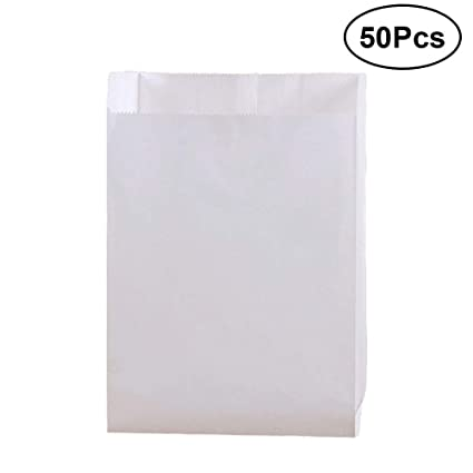 Amazon 50pcs Disposable Food Paper Bags Chips Chicken Chop