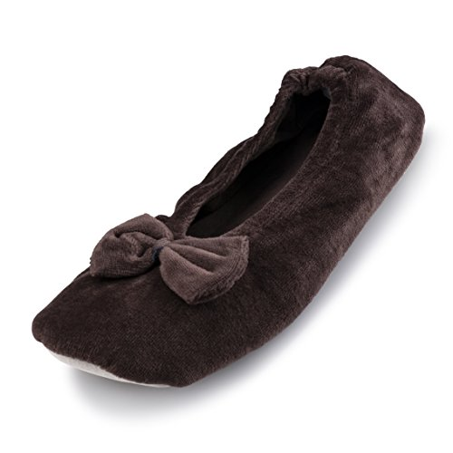 Cartoon Club Ballerina Slippers For Women (Runs Small) - Comfortable Ladies Ballet-Style Slipper With Ribbon 8tjWl