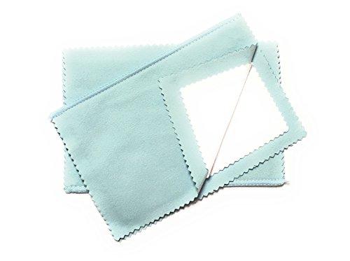 BOSTON EMPORIUM Microfiber Jewelry Polishing Cloth - 4 Ply Travel Size Cloth