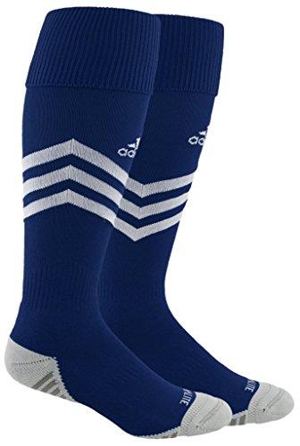 - adidas Mundial Zone Cushion Soccer Socks (1-Pack), new navy/white/light Onix/Onix, 9-13