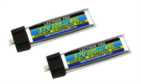 Lectron Pro 3.7V 220mAh 45C Lipo Battery 2-Pack