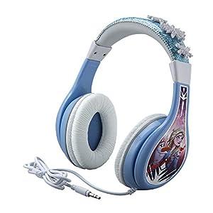 eKids Frozen 2 Kids Headphones, Adjustable Headband, Stereo Sound, 3.5Mm Jack, Wired Headphones for Kids, Tangle-Free…