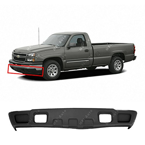 Black Lower Front Air Deflector for 2003-2006 Chevy Silverado 1500 W/Tow 03-06, GM1092205 ()