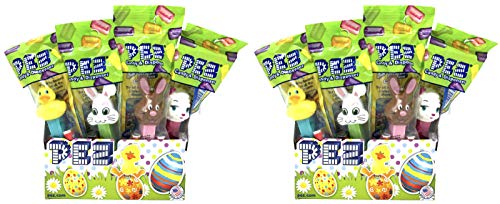 Pez Easter Candy Dispensers Individually Wrapped Dispensers and Pez Candy - Lamb, Bunny, Chick - with Tru Inertia Kazoo -Easter Basket Candy (24 Pack)