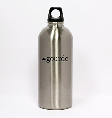#gourde - Hashtag Silver Water Bottle Small Mouth 20oz
