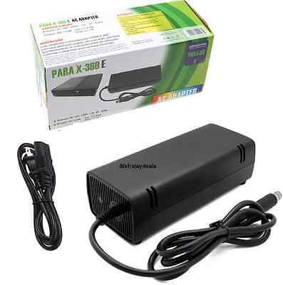 Power Supply Cord AC Adapter Power Brick Replacement Charger for Xbox 360 SLIM ONLY with Cable Auto Voltage 100-240V, Black Brick Game Console