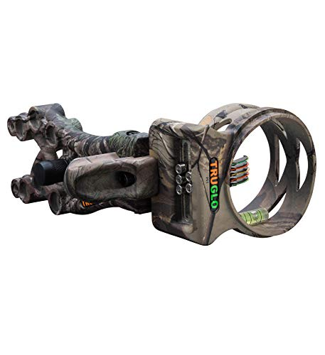 TRUGLO Carbon XS Xtreme Ultra-Lightweight Carbon-Composite Bow Sight, Realtree Xtra Camo