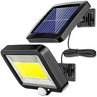 Luz Solar Exterior con Sensor de Movimiento, EJNOY 100 LED Focos Solares Exterior 120 ° súper brillantes, IP65…