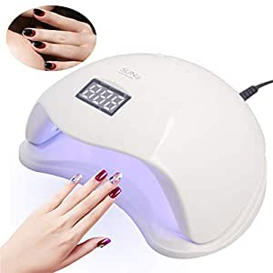 48W LED Nail Dryer UV Curing Lamps Light Auto Sensor Nail Gel Polish Dryer Auto Sensor Nail Gel Polish Dryer With 4 Timer Setting, Professional For Fingernail Toenail Polish Art.