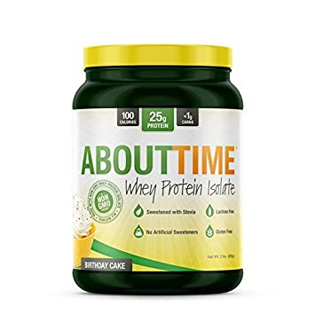 About Time Whey Protein Isolate Birthday Cake 2lb