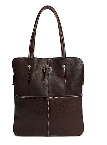 brown leather women briefcase slim business briefcase feminine briefcase