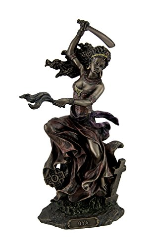 Resin Statues Bronzed Oya Goddess Of Wind And Transformation Statue 5 X 9.5 X 3.25 Inches Bronze
