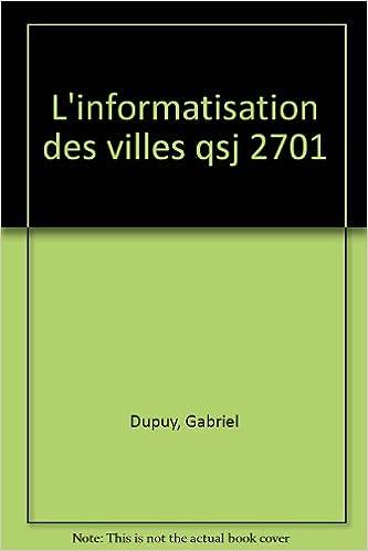 L'informatisation des villes pdf, epub ebook
