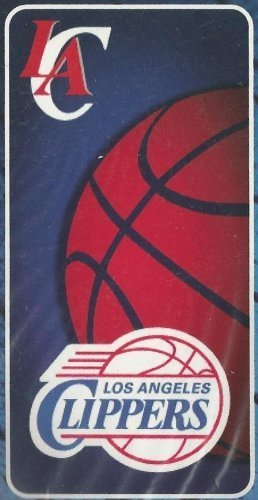 Los Angeles Clippers NBA Blue/Red Beach Towel 30 X 60 100% cotton - We are one by Northwest by Outdoor Sport