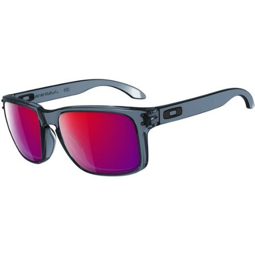 fd67ac4cef Oakley Holbrook Men s Lifestyle Sports Sunglasses - Crystal Black Positive  Red Iridium One Size Fits All (B00CG38BIC)