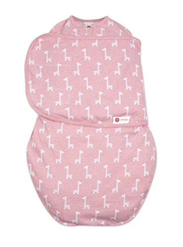 embe-2-way-classic-baby-swaddle-pink-giraffe-100-soft-cotton-0-4-months