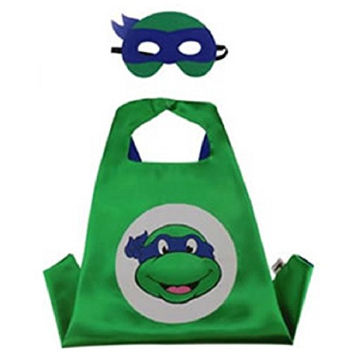 Superhero CAPE & MASK SET Kids Childrens Halloween Costume TMNT Leonardo Turtle