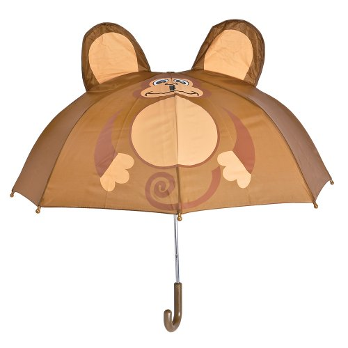 Rhode Island Novelty Monkey Rain Animal Series Kids Shield Umbrella