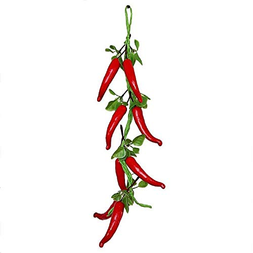 XIGUA MELON Simulation Vegetables Hanging String Fake Pepper String Garden red fire Arrangement Decorative Crops from XIGUA MELON