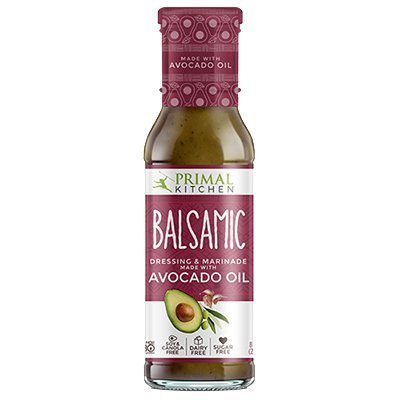 Primal Kitchen - Avocado Oil-Based Dressing and Marinade, Balsamic Vinaigrette, 8 oz, Whole30 and Paleo Approved