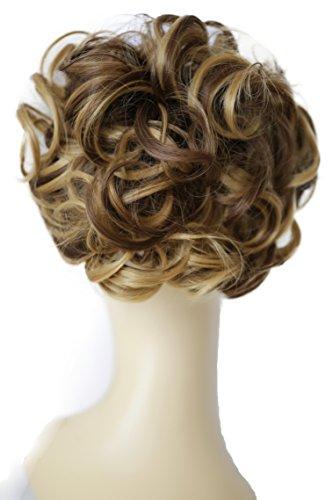 PRETTYSHOP Mono, Postizo, Trenza, Mono de estilo Hepburn, Coletero, Peinado alto rubia mezcla marron #12H27 HK116
