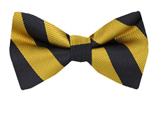 PBT-JCS-ADF-1-6 - Men's College Repp Stripe Pre-tied Bow Tie ()
