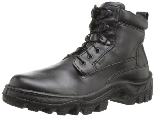 Rocky Men's Postal TMC 6 Inch Plain Toe Work Boot,Black,12 W US by Rocky