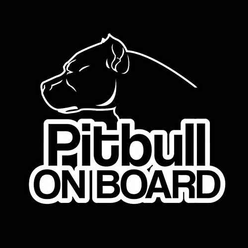 Connoworld Clearance Sale 2018 Funny Pit Bull on Board Reflective Car Truck Laptop Sticker Decorative Decal