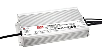 AC to DC LED Driver Power Supply, 24 Volts 25 Amps 600 Watts Outputs Adjustable by Internal Pot