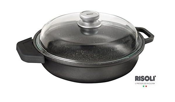 Risoli - Cacerola a inducción de granito con tapa y cubre ...