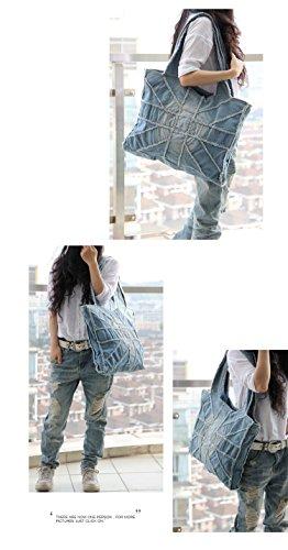 Shoulder Donalworld Jeans Women Shoulder Women Handbags Denim Tote Denim Tote Jeans Blue Handbags Large Large Donalworld xIE0qPwf