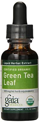 Gaia Herbs Green Tea Leaf Supplement Bottle, 1 Ounce