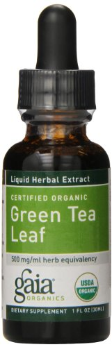 Gaia Herbs Green Tea Leaf, Liquid Supplement, 1 Ounce (Pack of 2) - Polyphenol Antioxidants, Healthy Inflammatory Response, USDA Organic