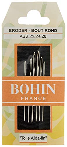 Bohin Tapestry Hand Needles, Size 22/24/26 6/Pkg
