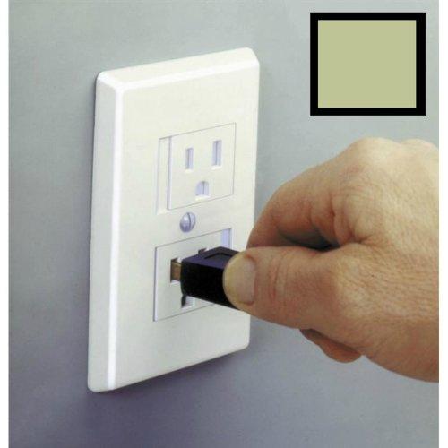 最終決算 Mommys B00CE17K56 Helper Safe - Plate Electrical Helper Outlet Cover - Standard (Center Screw) - Almond Color by Mommy's Helper B00CE17K56, クジュウクリマチ:6ef6445a --- outdev.net