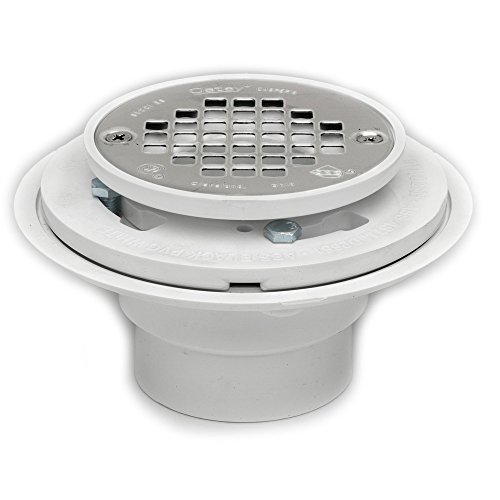 oatey pvc drain with stainless steel strainer for tile shower bases 2inch or 3inch